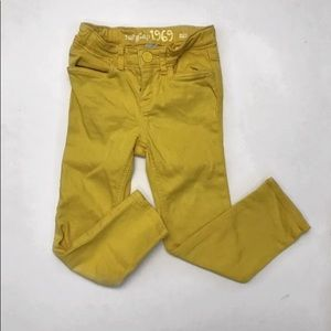 Baby Gap Yellow skinny jeans pants girls size 4t